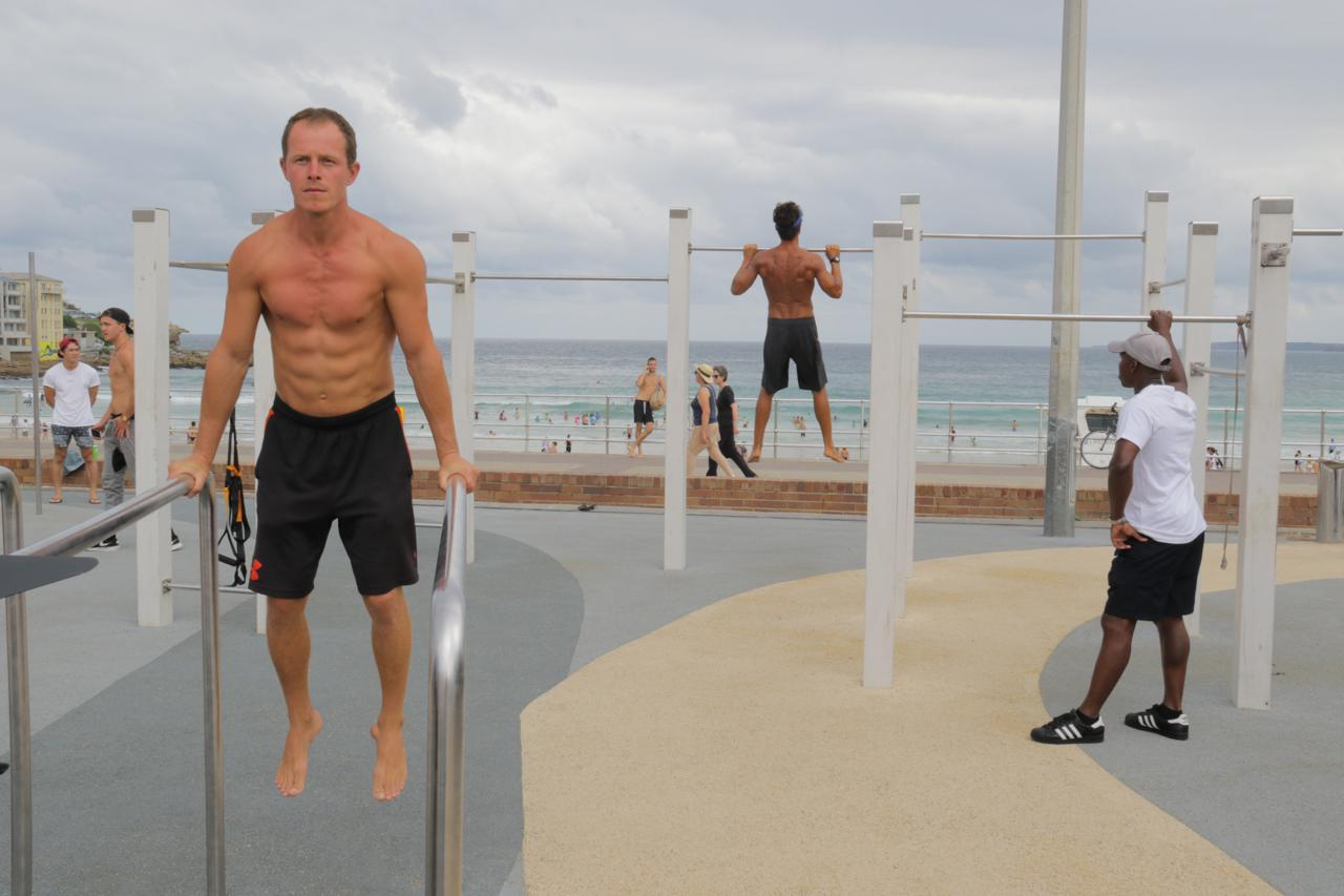 Bondi, muscles, men, Man Up, beach